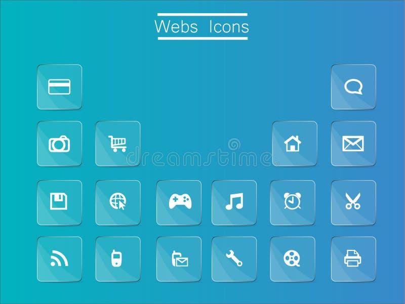 Het pictogram van het Web stock foto's