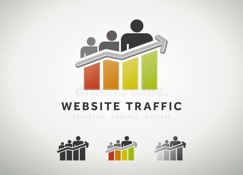 Het pictogram van het websiteverkeer stock illustratie