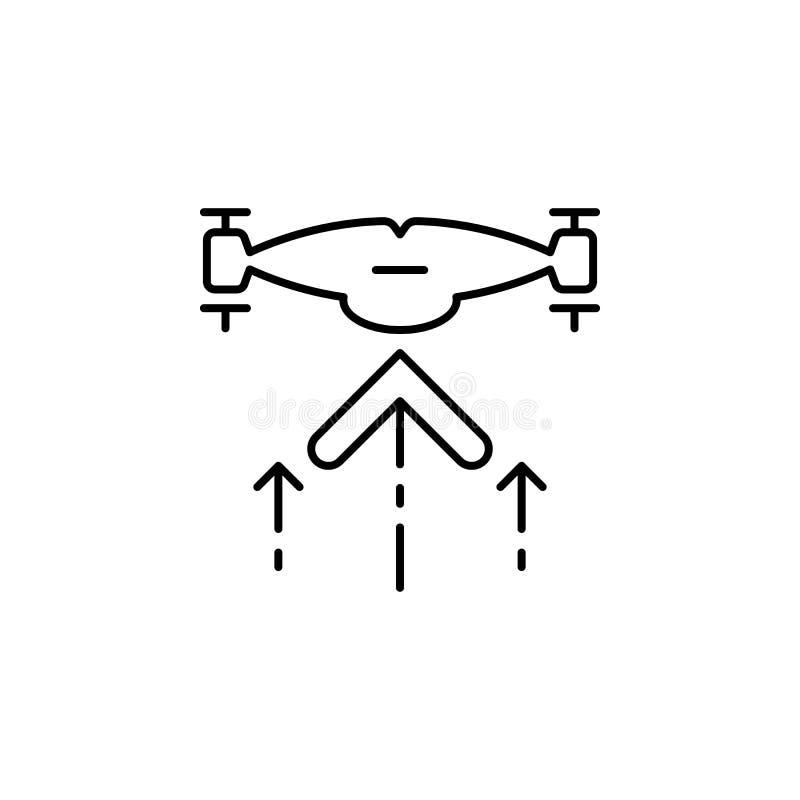het pictogram van hommelstijgingen Element van hommels voor mobiele concept en Web apps illustratie Het dunne lijnpictogram voor  royalty-vrije illustratie