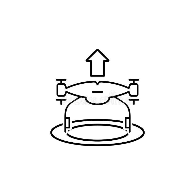 het pictogram van hommelstijgingen Element van hommels voor mobiele concept en Web apps illustratie Het dunne lijnpictogram voor  stock illustratie