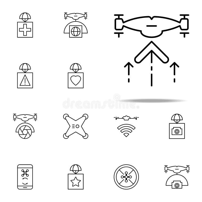 het pictogram van hommelstijgingen Voor Web wordt geplaatst dat en het mobiele algemene begrip van hommelspictogrammen royalty-vrije illustratie