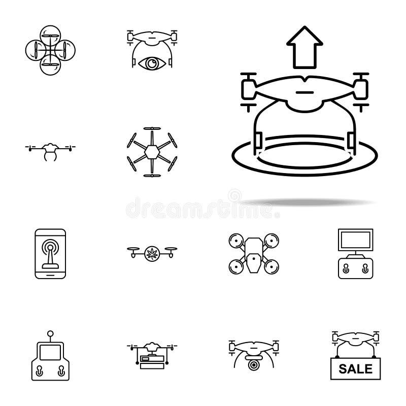 het pictogram van hommelstijgingen Voor Web wordt geplaatst dat en het mobiele algemene begrip van hommelspictogrammen vector illustratie