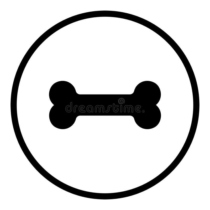 Het pictogram van het hondbeen r Vlakke tekens in cirkels Ronde knopen voor Web vector illustratie