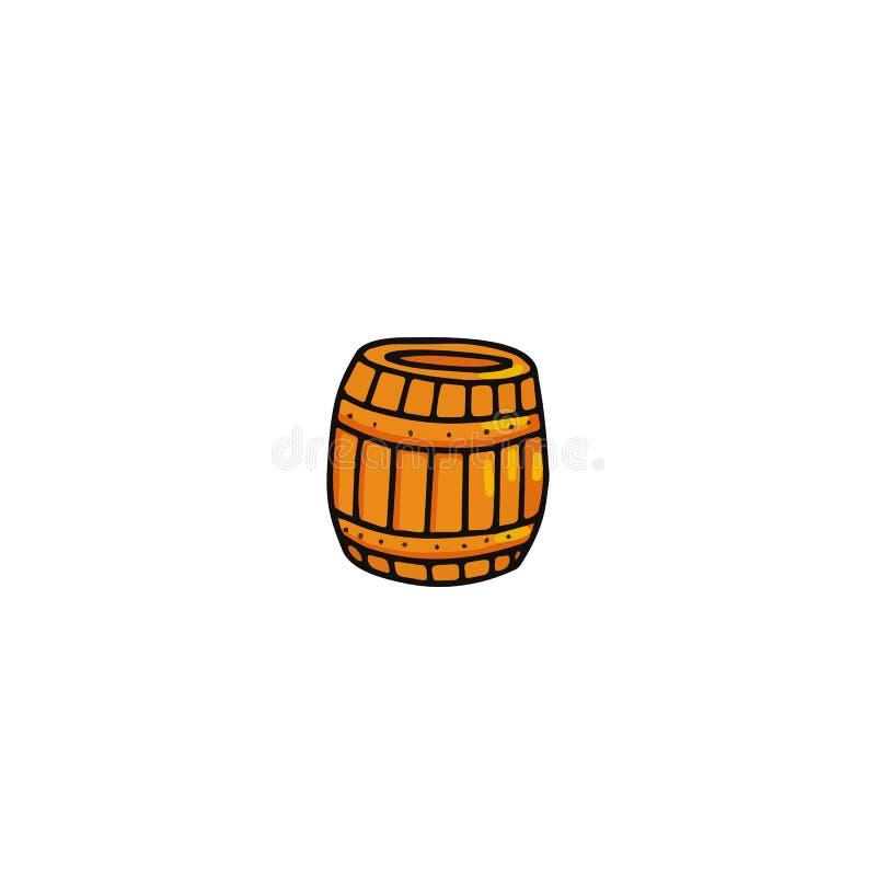 Het pictogram van het honingsvat stock illustratie