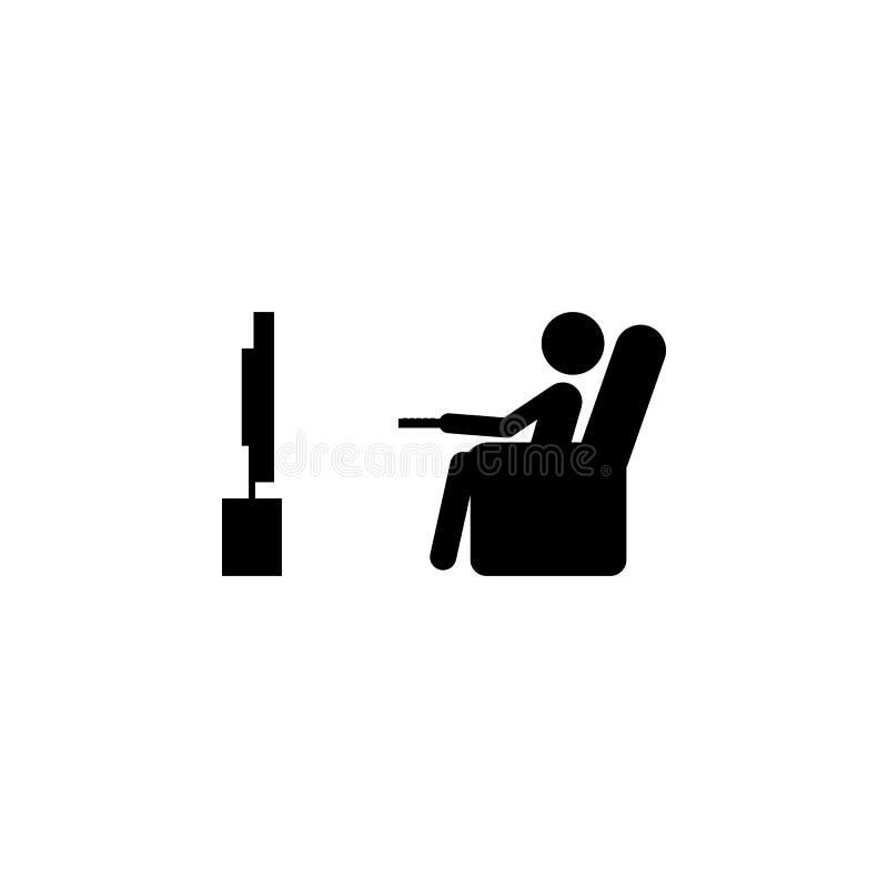 het pictogram van horlogetv Slechte gewoonteelementen voor mobiel concept en Web apps Pictogram voor websiteontwerp en ontwikkeli stock illustratie