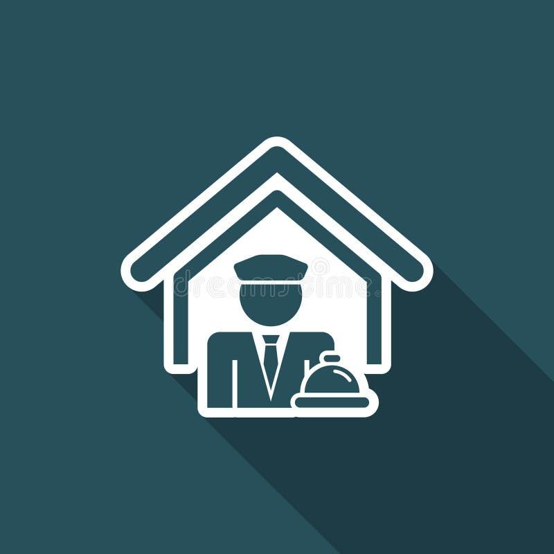 Het pictogram van het hotel vector illustratie