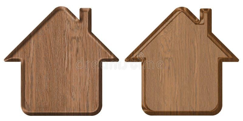 Het pictogram van het huis stock afbeeldingen