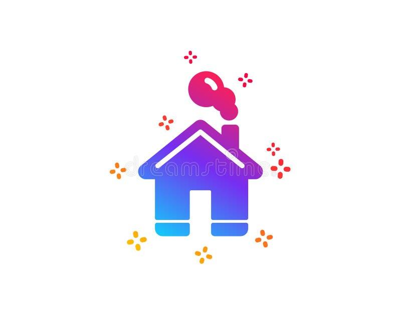 Het pictogram van het huis Eenvoudig gestileerd pictogram van plattelandshuisje Vector royalty-vrije illustratie