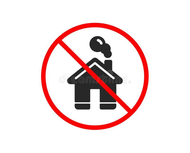 Het pictogram van het huis Eenvoudig gestileerd pictogram van plattelandshuisje Vector stock illustratie