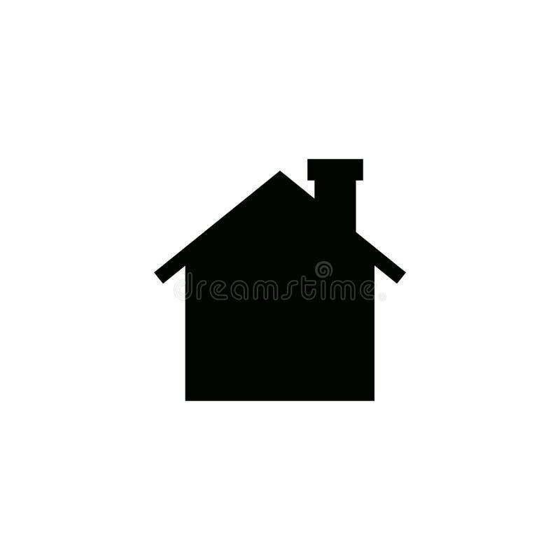 Het pictogram van het huis Eenvoudig vlak symbool Illustratiepictogram op witte achtergrond Vector royalty-vrije illustratie