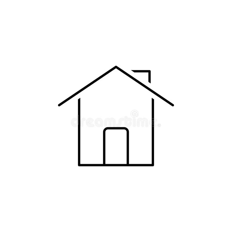 Het pictogram van het huis Element van eenvoudig pictogram in materiële stijl voor mobiel concept en Web apps Dun lijnpictogram v vector illustratie