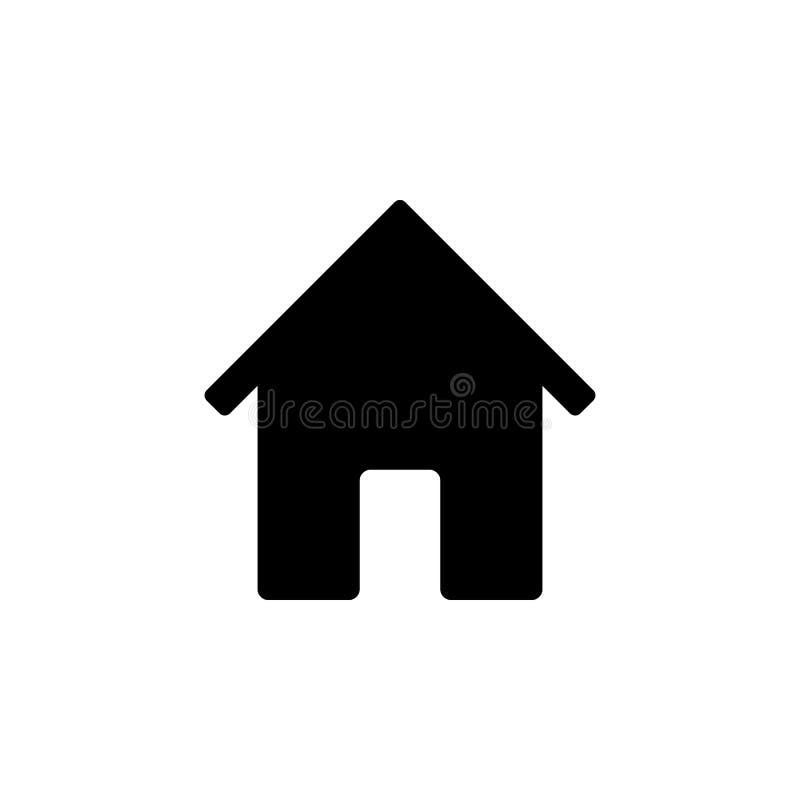 Het pictogram van het huis Element van eenvoudig pictogram voor websites, Webontwerp, mobiele app, informatiegrafiek Tekens en sy stock illustratie