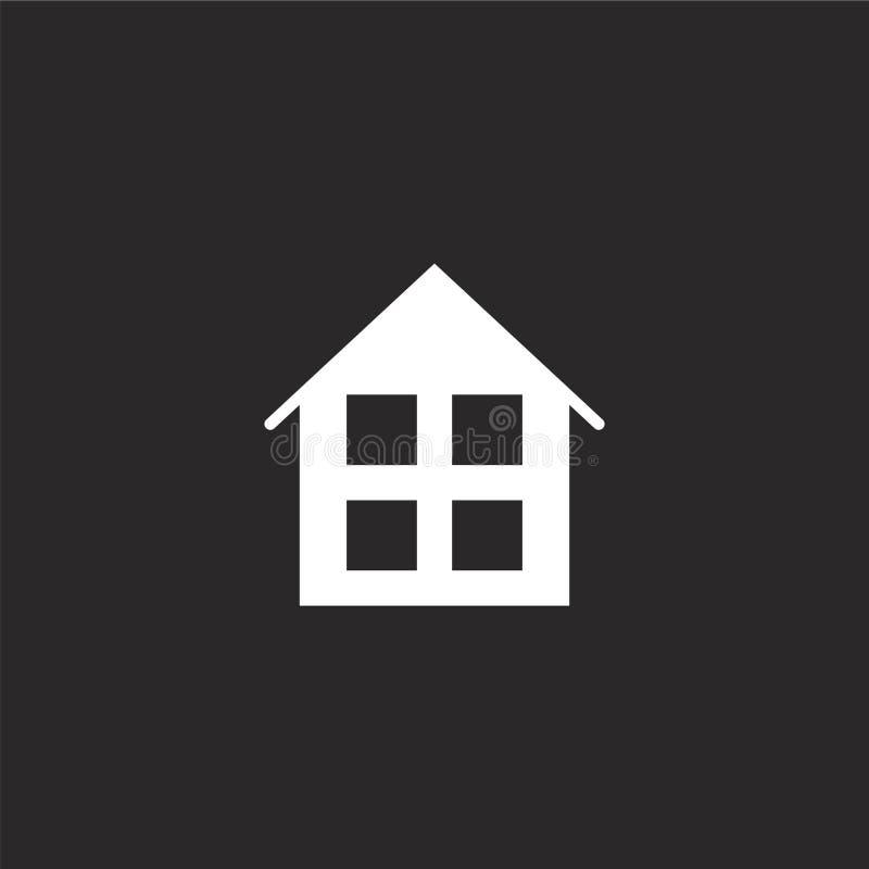 Het pictogram van het huis Gevuld huispictogram voor websiteontwerp en mobiel, app ontwikkeling huispictogram van gevulde essenti stock illustratie