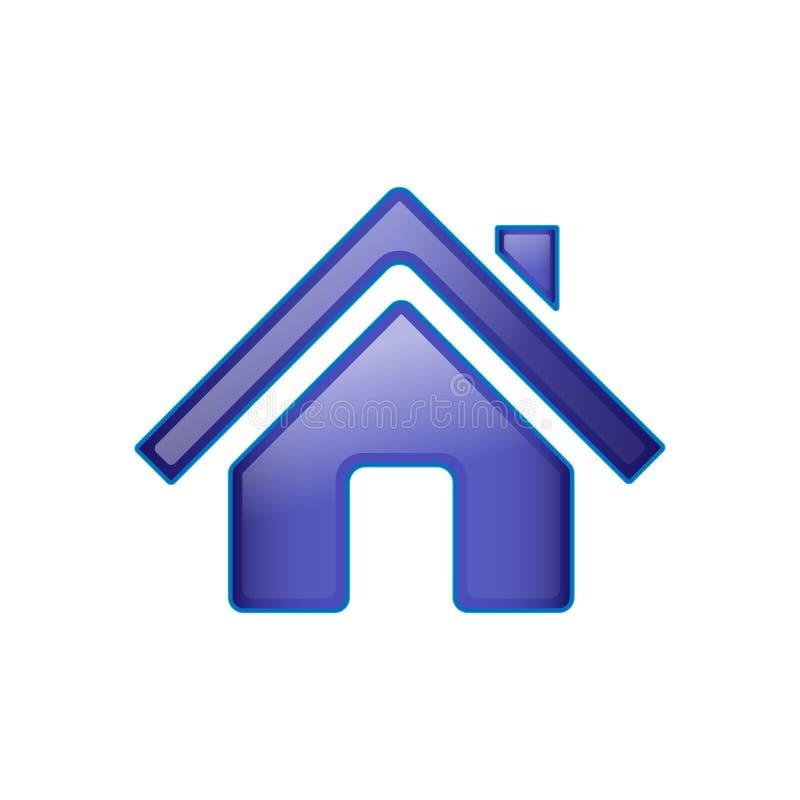 Het pictogram van het huis Vector, op een witte achtergrond wordt ge?soleerd die stock illustratie
