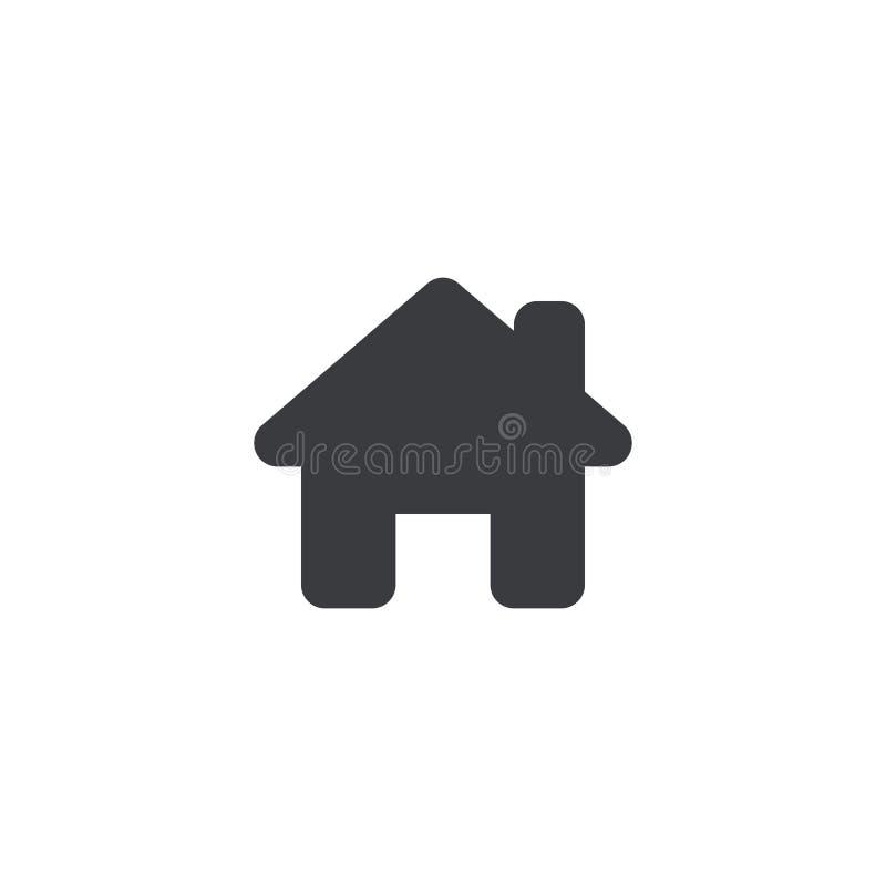 Het pictogram van het huis Vectorhuisvorm Huisteken Homepage Navigatieknoop Element voor ontwerpmobiele toepassing of website royalty-vrije illustratie