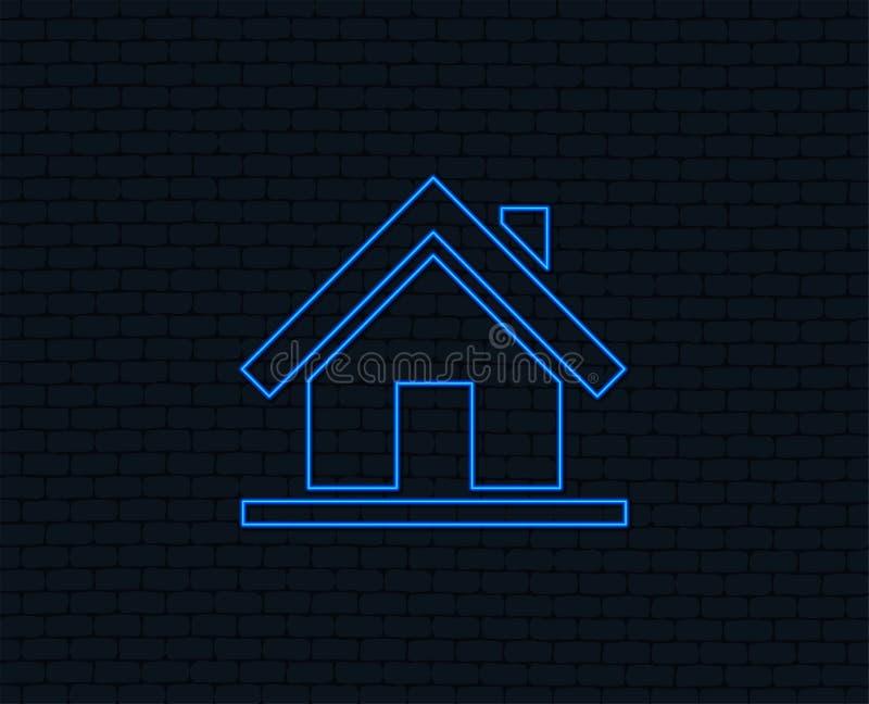 Het pictogram van het huisteken Hoofdpaginaknoop nearsighted vector illustratie