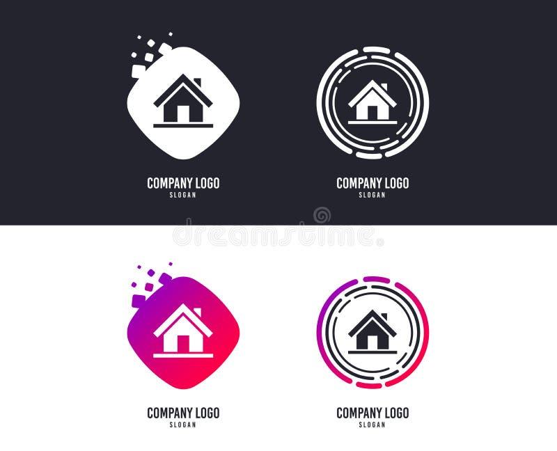 Het pictogram van het huisteken Hoofdpaginaknoop nearsighted Vector royalty-vrije illustratie