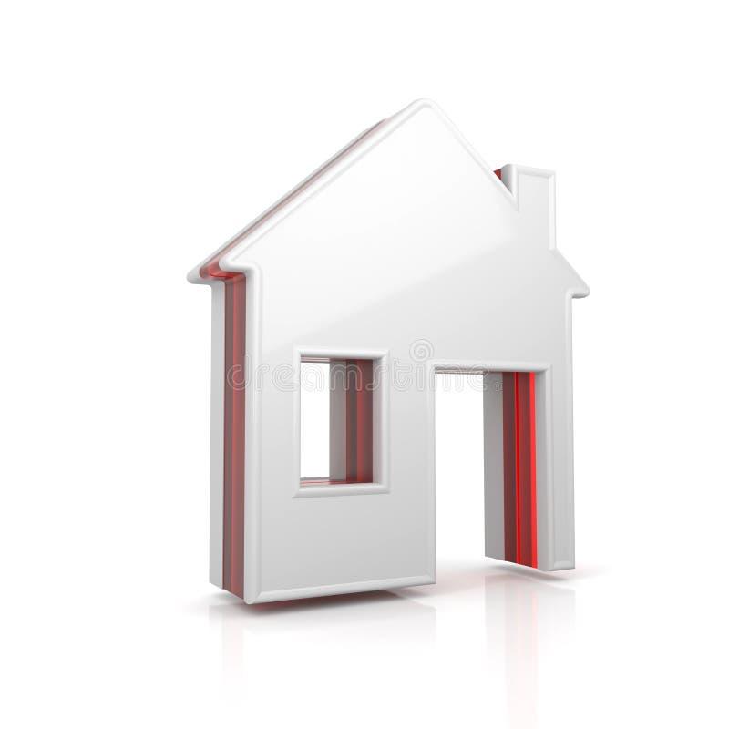 Het pictogram van het huisweb vector illustratie