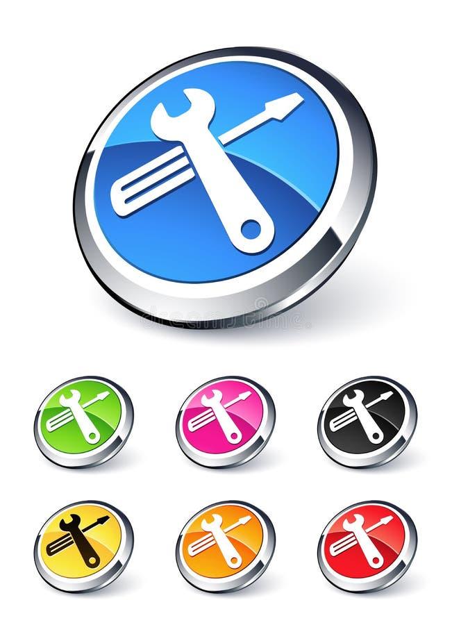 Het pictogram van hulpmiddelen