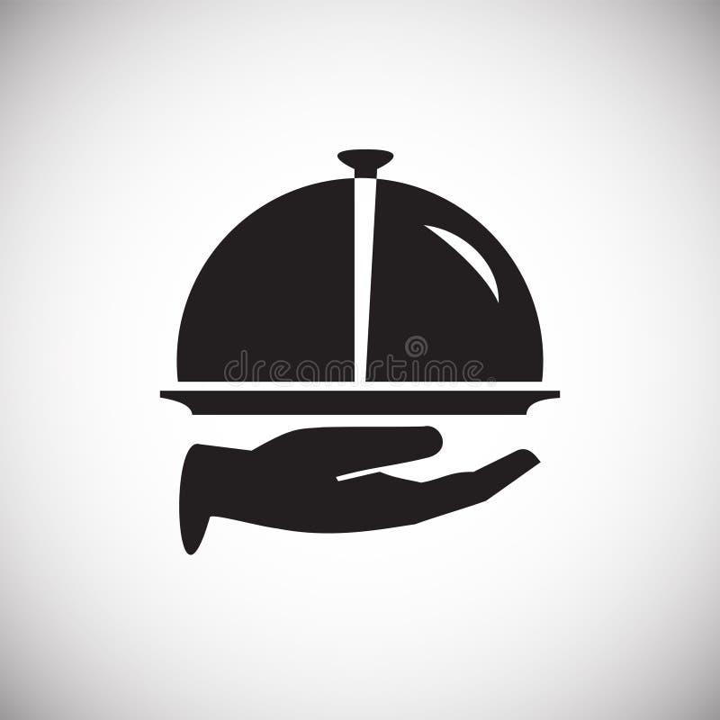 Het pictogram van het huwelijksdiner op witte achtergrond voor grafisch en Webontwerp, Modern eenvoudig vectorteken Het concept v vector illustratie