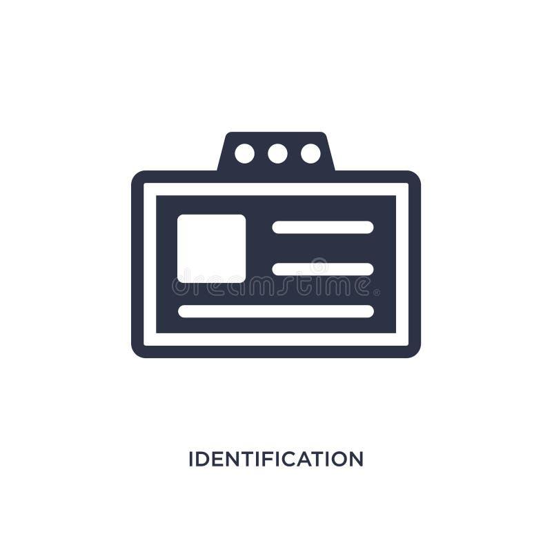 het pictogram van het identificatiekenteken op witte achtergrond Eenvoudige elementenillustratie van luchthaven eindconcept vector illustratie