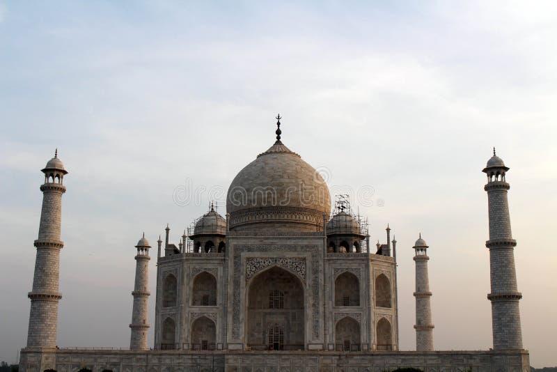 Het pictogram van India en het symbool van liefde, majestueus Taj Mahal stock afbeeldingen
