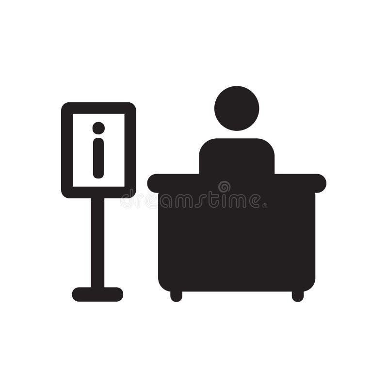 Het Pictogram van het informatiebureau  stock illustratie