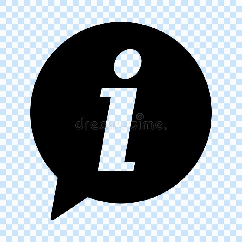 Het pictogram van het informatieteken De bellensymbool van de informatietoespraak vector illustratie
