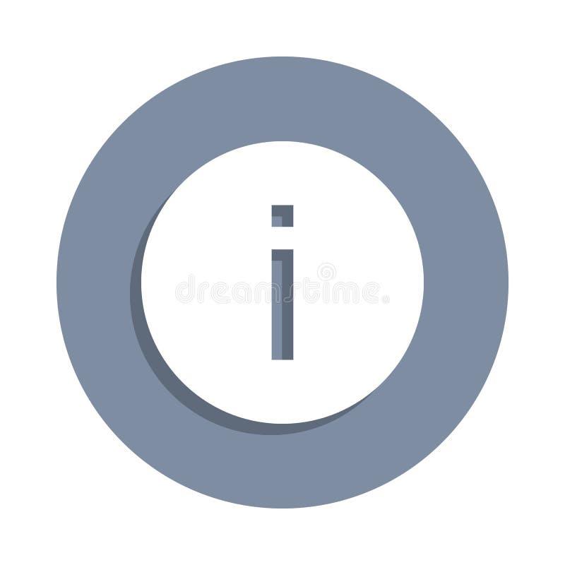 het pictogram van het informatieteken in kentekenstijl Één van het pictogram van de Webinzameling kan voor UI, UX worden gebruikt royalty-vrije illustratie