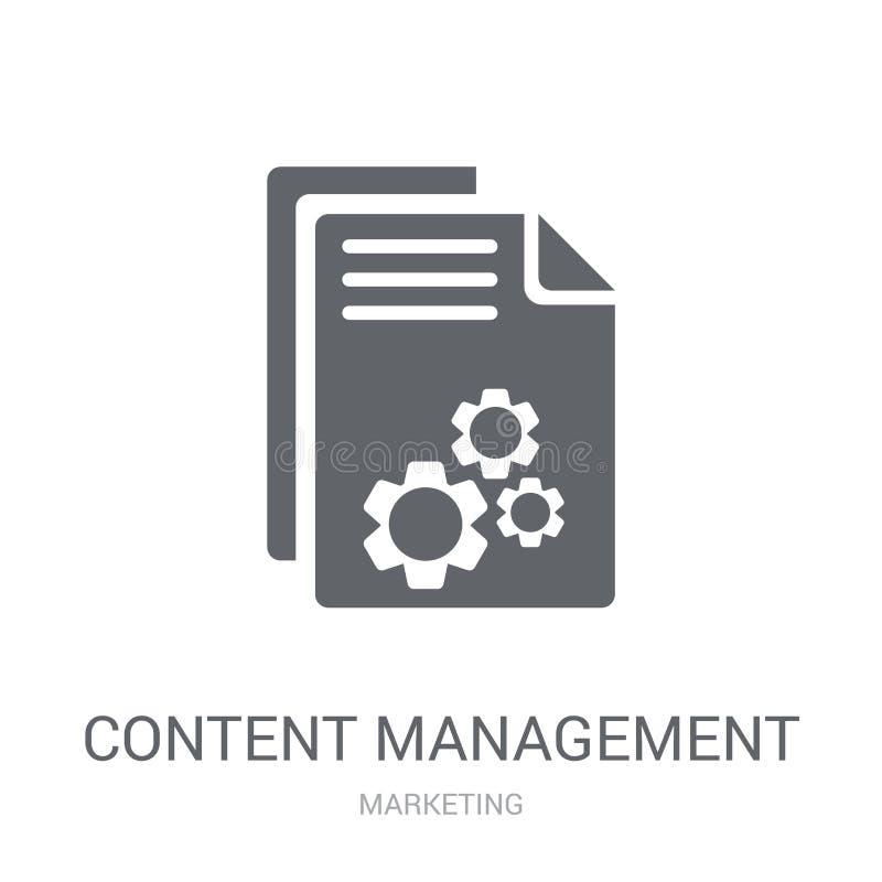 het pictogram van het inhoudsbeheer  royalty-vrije illustratie
