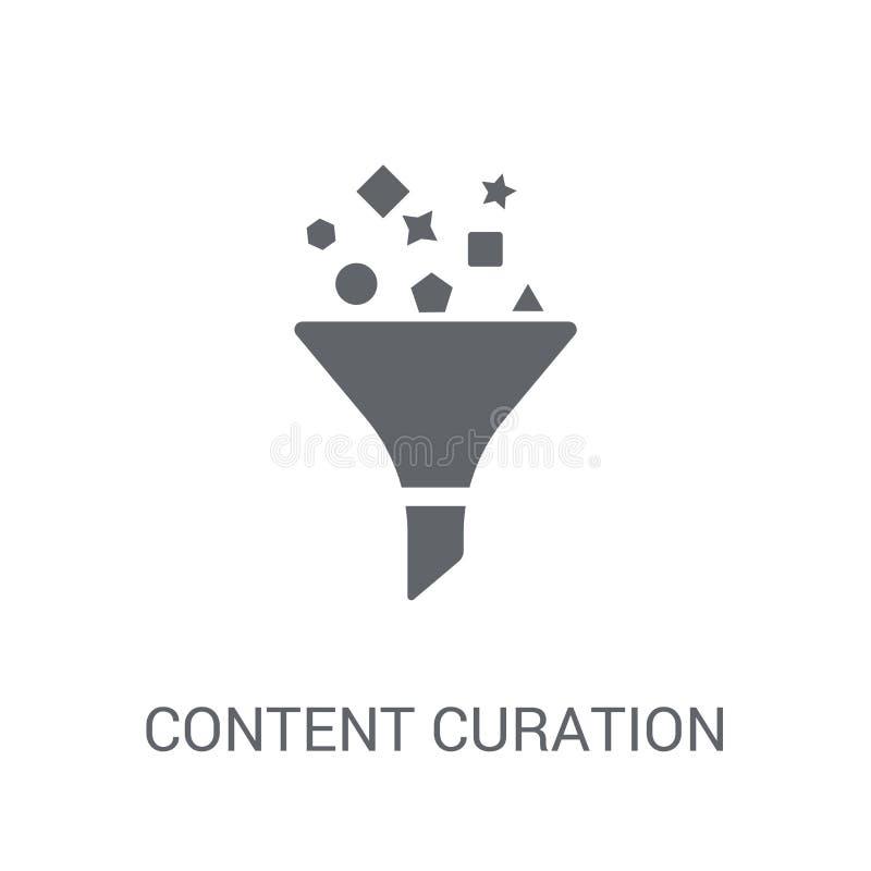 Het pictogram van inhoudscuration  royalty-vrije illustratie