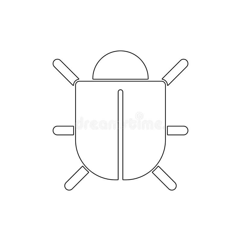 Het pictogram van het insectenoverzicht De tekens en de symbolen kunnen voor Web, embleem, mobiele toepassing, UI, UX worden gebr stock illustratie