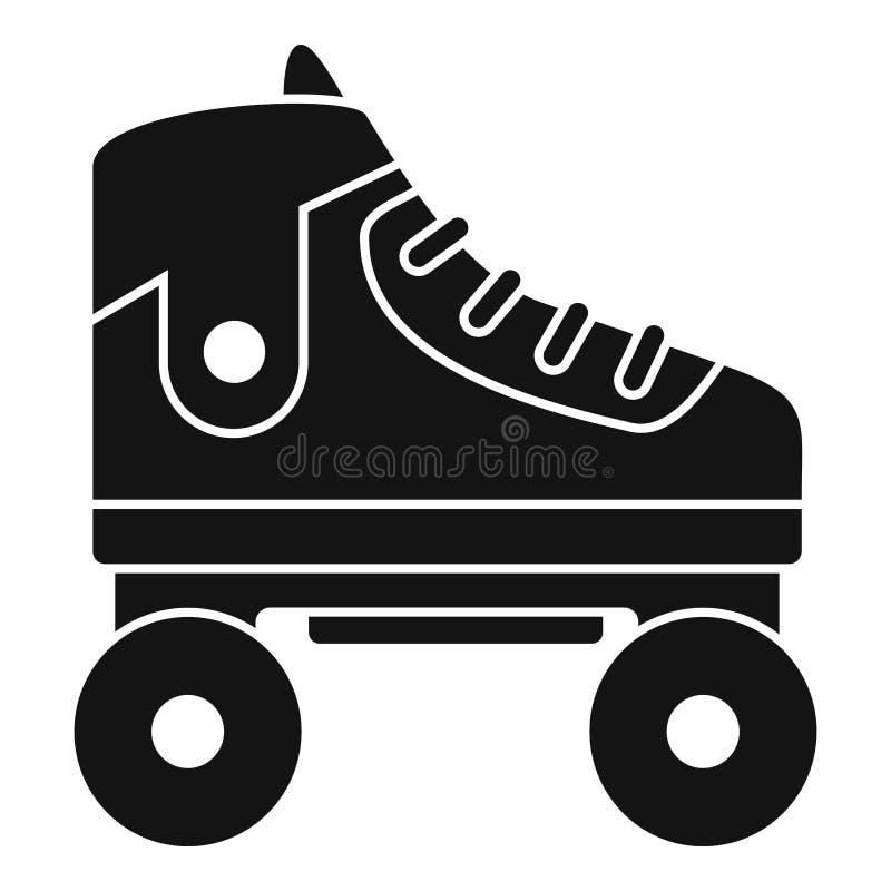 Het pictogram van jong geitjerolschaatsen, eenvoudige stijl stock illustratie