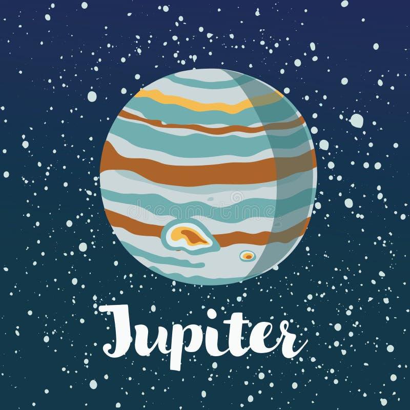 Het pictogram van Jupiter de illustratie isoleerde tekensymbool royalty-vrije illustratie