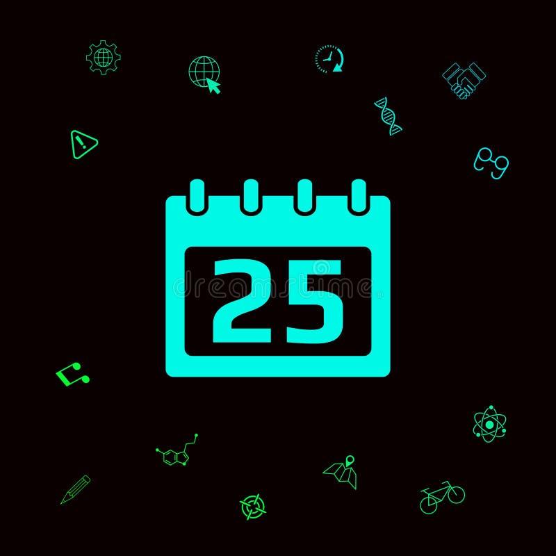 Het pictogram van het kalendersymbool vector illustratie