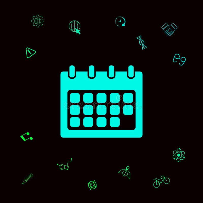 Het pictogram van het kalendersymbool stock illustratie