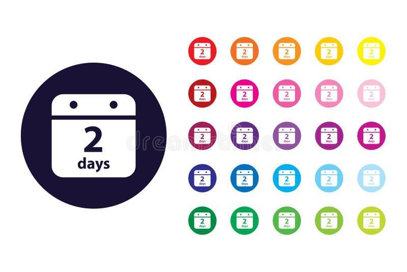 Het pictogram van het kalenderteken Het symbool van de kalenderkleur stock illustratie
