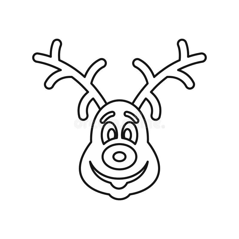 Het pictogram van Kerstmisherten, overzichtsstijl vector illustratie