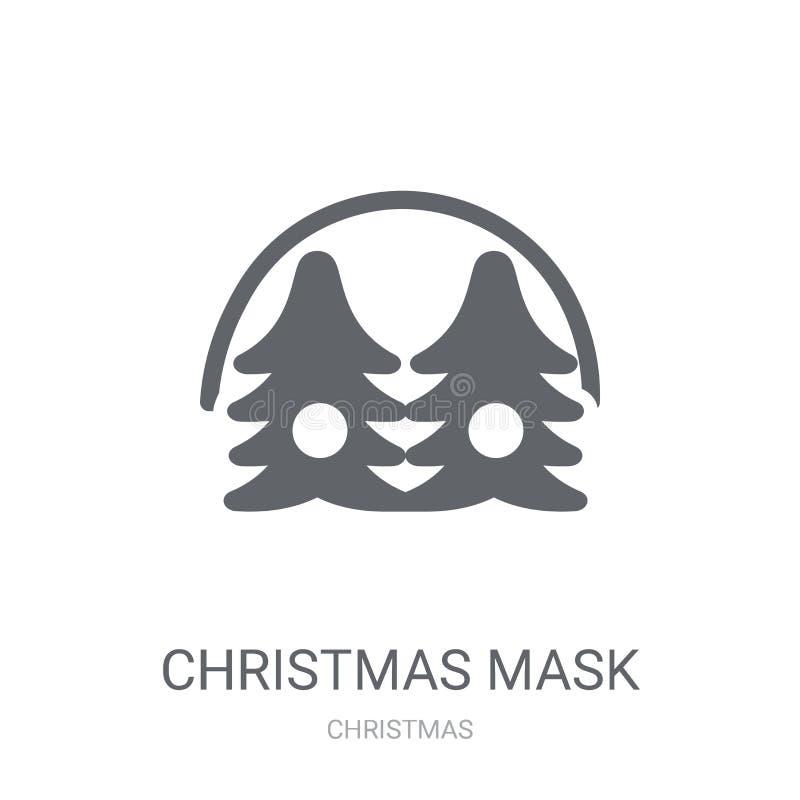het pictogram van het Kerstmismasker  stock illustratie