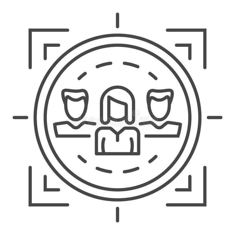 Het pictogram van het klantenbehoud, overzichtsstijl stock illustratie