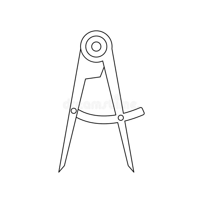 het pictogram van het kleurenkompas Element van bouwhulpmiddelen voor mobiel concept en webtoepassingenpictogram Overzicht, dun l vector illustratie