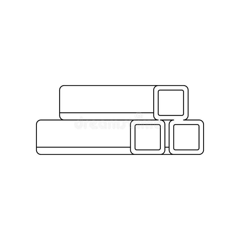 het pictogram van kleurenpijpen Element van bouwhulpmiddelen voor mobiel concept en webtoepassingenpictogram Overzicht, dun lijnp stock illustratie