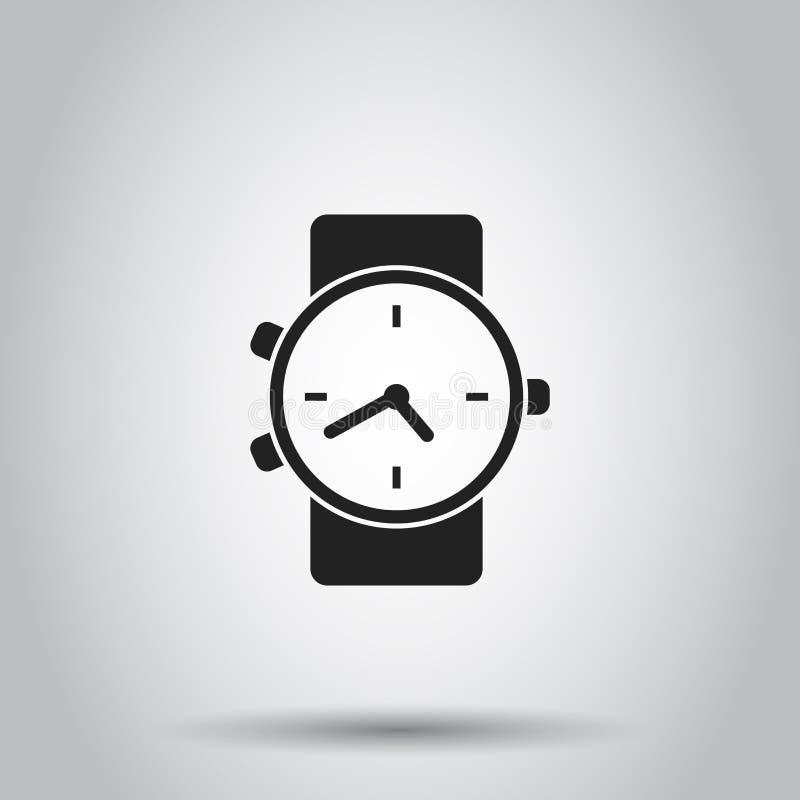 Het pictogram van het klokhorloge Vectorillustratie op geïsoleerde achtergrond Bu vector illustratie