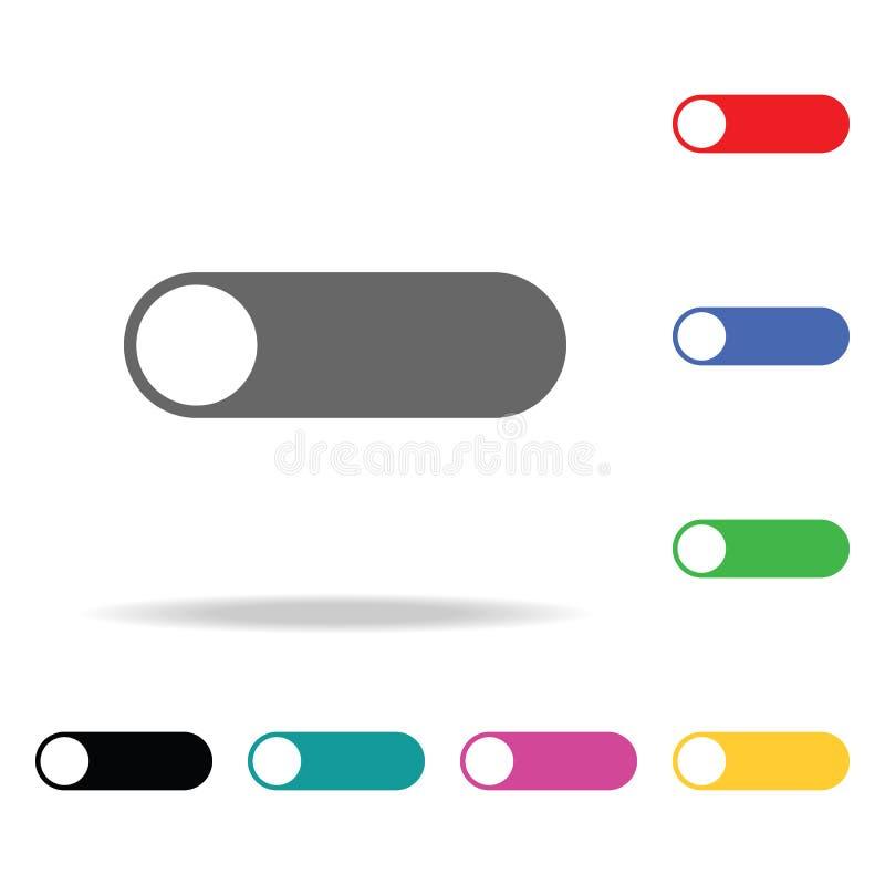 Het pictogram van het knevelschakelaarweb Elementen in multi gekleurde pictogrammen voor mobiel concept en Web apps Pictogrammen  royalty-vrije illustratie