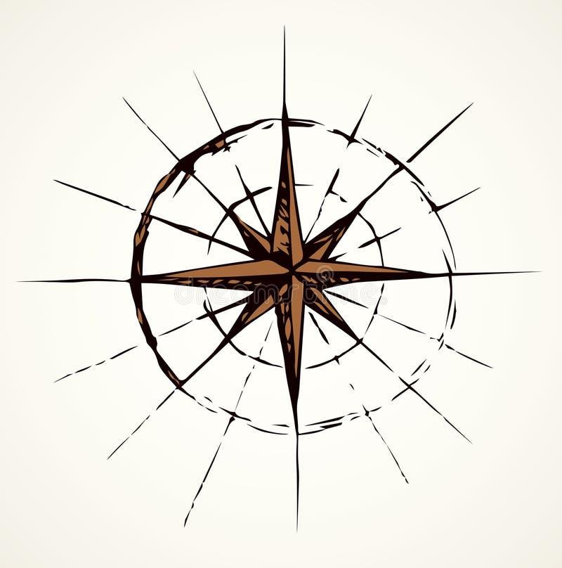 Het pictogram van het kompas EPS 10 royalty-vrije illustratie