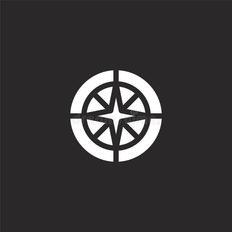 Het pictogram van het kompas Gevuld kompaspictogram voor websiteontwerp en mobiel, app ontwikkeling kompaspictogram van gevulde o stock illustratie