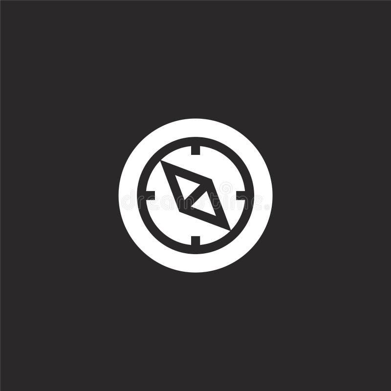 Het pictogram van het kompas Gevuld kompaspictogram voor websiteontwerp en mobiel, app ontwikkeling kompaspictogram van gevulde r vector illustratie