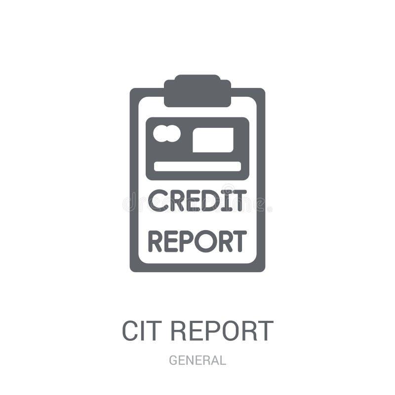 het pictogram van het kredietrapport  royalty-vrije illustratie