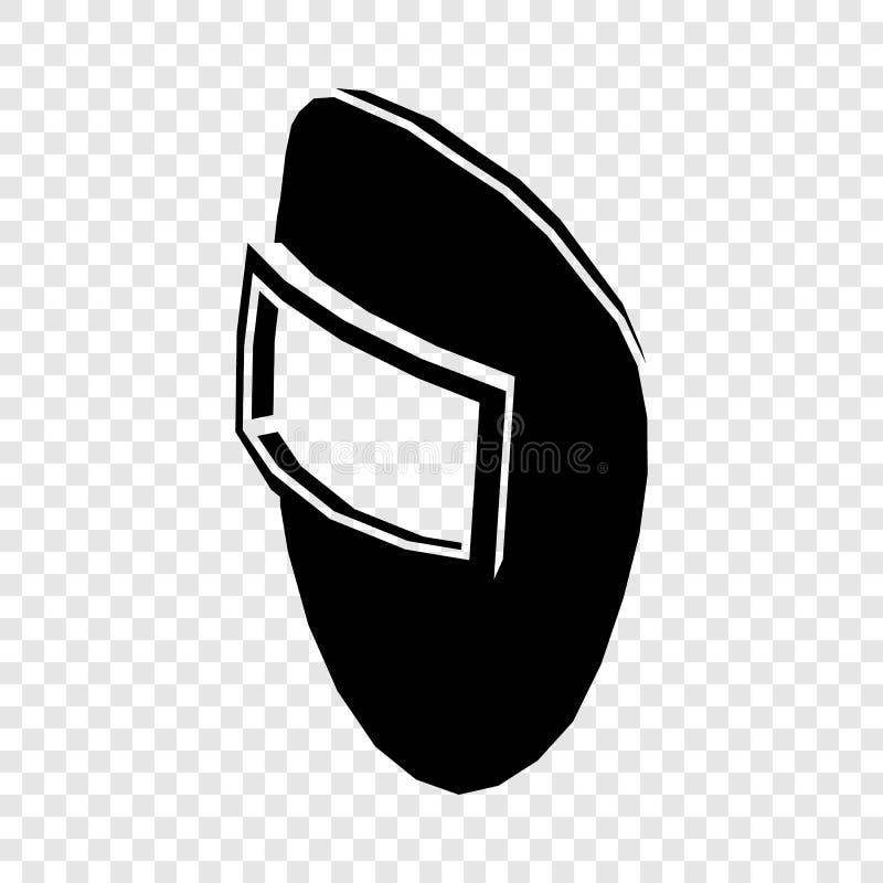 Het pictogram van het lassenmasker, eenvoudige zwarte stijl royalty-vrije illustratie
