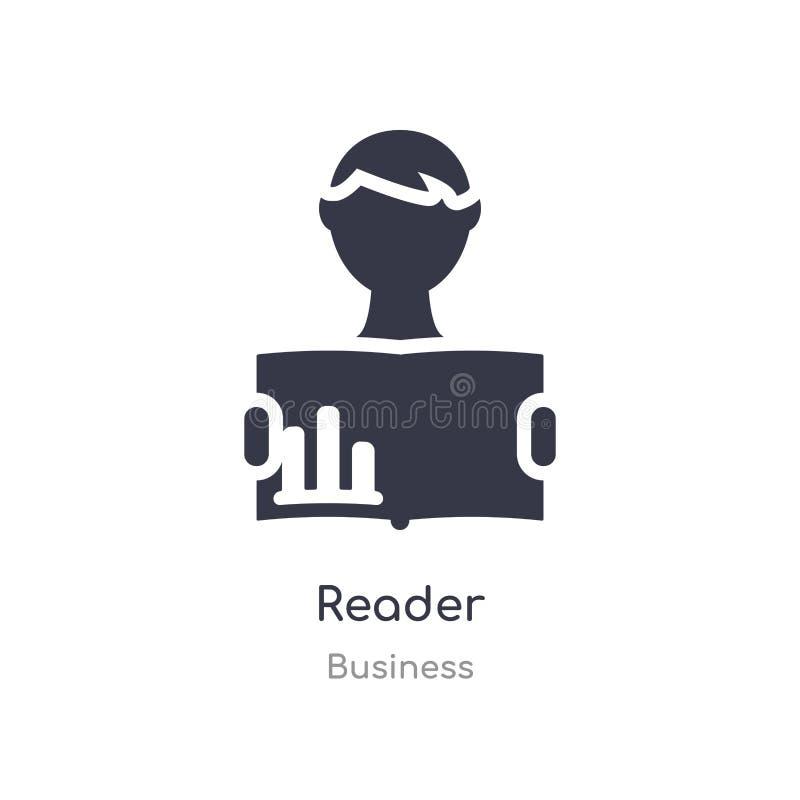 het pictogram van het lezersoverzicht ge?soleerde lijn vectorillustratie van bedrijfsinzameling het editable dunne pictogram van  royalty-vrije illustratie